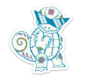 "Squirtle - Pokemon | Day of the Dead 3""x3"" Sticker"