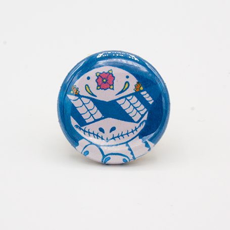 Squirtle - Pokemon Day of the Dead Mashup Pin
