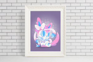 Sylveon - Pokemon | Day of the Dead Mashup Art Print