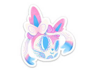 "Sylveon - Pokemon Eeveelution | Day of the Dead 3""x3"" Sticker"
