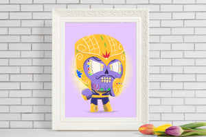 Thanos - Avengers | Day of the Dead Mashup Art Print