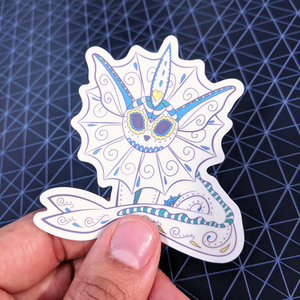 "Vaporeon - Pokemon | Day of the Dead 3""x3"" Sticker"