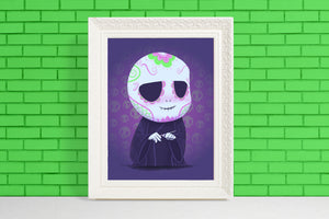 Voldemort - Harry Potter | Day of the Dead Mashup Art Print