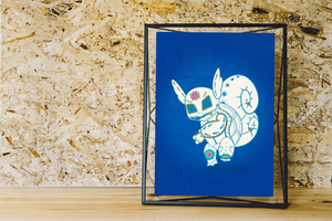 Wartortle - Pokémon Day of the Dead Mashup Art Print