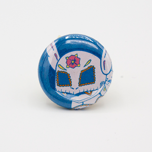 wartortle day of the dead pinback button mini