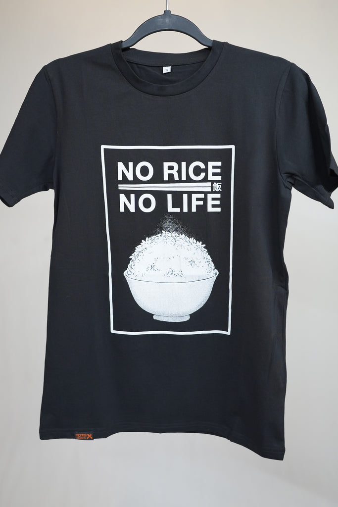 No Rice No Life - Black T-Shirt