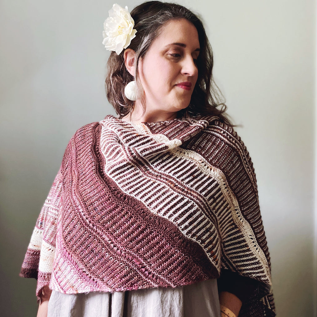 ⚜️Current Mood⚜️ by Lesley Robinson,  Knit Graffiti Designs ⚜️ Original Yarn & Colors ⚜️Trio of Aussie Extra Fine Single in Sika, Sugar Plum Fairy, and Milk Chocolate