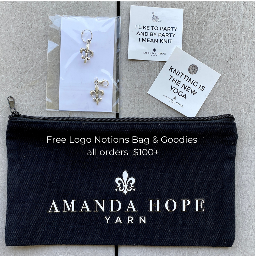 Logo Notions Bag - Free Mar 19 -28 with $100 Purchase to celebrate Hill Country Weavers Virtual Retreat