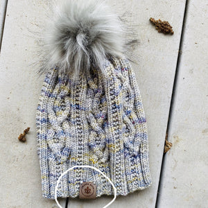 Amanda Hope Yarn Gray Leather Hat Tag