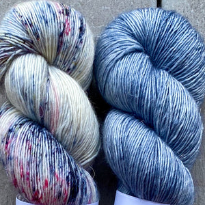 Duo Kit, Seaside & Blue Heather, Merino Linen, Two Skeins
