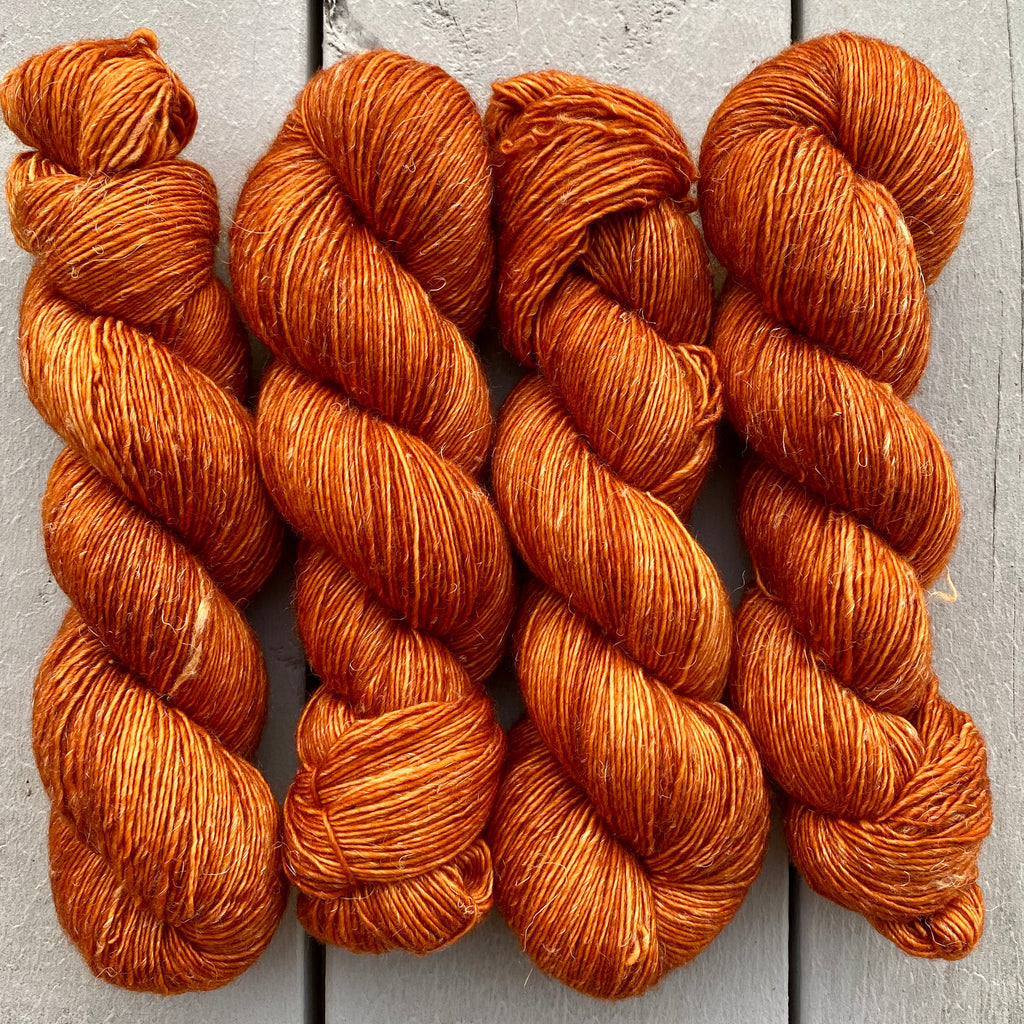 Pumpkin Spice, Merino Linen Fingering Weight