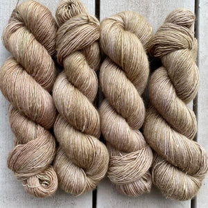 Taupe, Merino Linen Fingering Weight