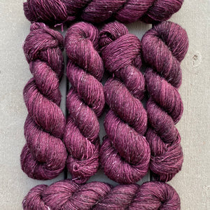 Claret, Merino Linen Fingering Weight
