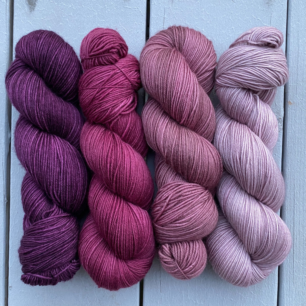 Mauve, Mauve, Wine Gradient Quartet
