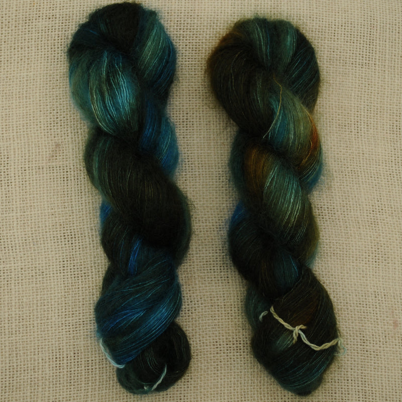 Nocturne:  Blue and Gold, Mohair/Silk