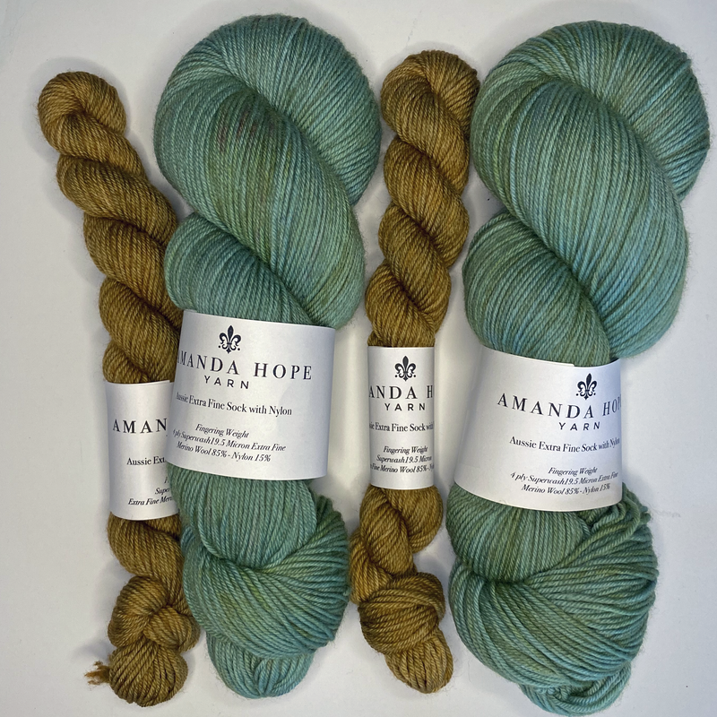 Verdigris Sock Set, Aussie Extra Fine Sock with Nylon