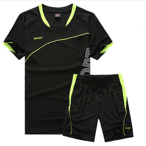 2 Piece Short Sleeve Shirt And Shorts Sports Set