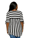 Xehar Women's Plus Size Striped Tie Sleeve Hi-Lo Tunic Blouse TopXehar Women's Plus Size Striped Tie Sleeve Hi-Lo Tunic Blouse Top - kats closet1
