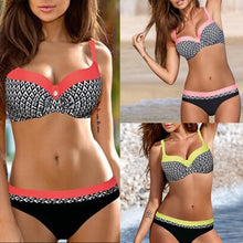 Load image into Gallery viewer, Women Push Up Bra Low Waist Thongs Floral Print Bikini Set Two Pieces Swimsuit EYE - kats closet1