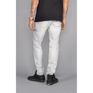 Seena Rip and Repair Tapered Jeans (Black) - kats closet1