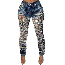 Load image into Gallery viewer, Belt Chain Long Denim Jeans - kats closet1