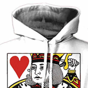 Heart Hoodie 3D Graphic Print Playing Poker King Pullover - kats closet1