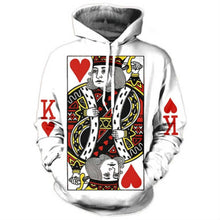 Load image into Gallery viewer, Heart Hoodie 3D Graphic Print Playing Poker King Pullover - kats closet1