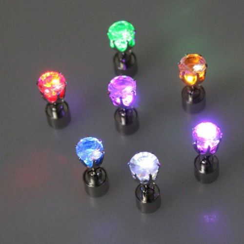 LEDs Light Up Crown Glowing Crystal Luminous Earrings