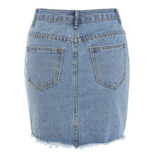 Load image into Gallery viewer, Frayed Denim Pencil Skirt - kats closet1