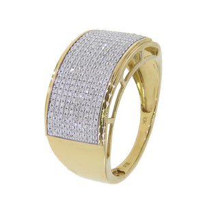 10k Yellow or White Gold Men's 3/5ct TDW Diamond Ring - kats closet1