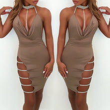 Load image into Gallery viewer, Women's Bandage Bodycon Sleeveless Evening Party Cocktail Club Short Mini Dress - kats closet1