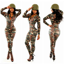 Load image into Gallery viewer, Camouflage Bodycon Jumpsuit - kats closet1