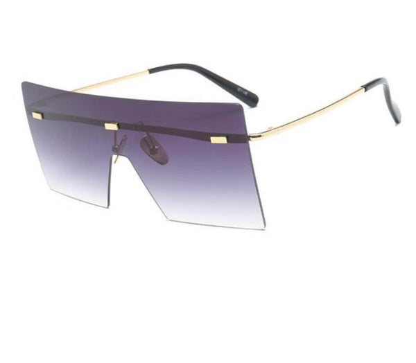 Big Frame Colorful Lens Square Sunglasses