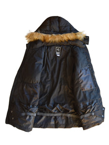 Plus Size Extended Arrow Down Quilted Coat 1X-6X - kats closet1