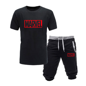 Two Piece Marvel Comics Shorts Set