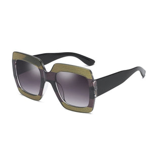 Retro Women'S Designer Oversized Square Sunglasses - kats closet1