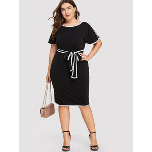 Split Back Hem Knot Detail Dress - kats closet1