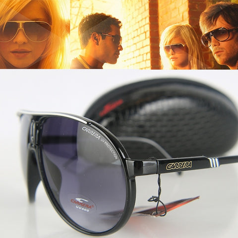 Retro Pilot Sunglasses Driving Big Frame Brand Designer Glasses with Box 6 Color