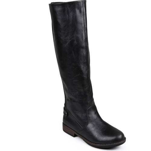 Wide Calf Stretch Knee-High Riding Boot - kats closet1