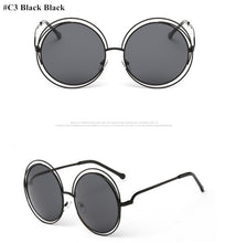 Load image into Gallery viewer, Round Clear Large Size Retro Mirror Sunglasses - kats closet1