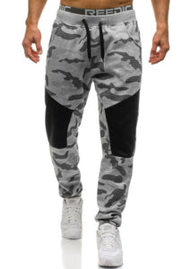 Male Trousers 2017 New Men Casual Hip hop Sweatpants Personality stitching Army Camouflage Trousers Joggers Mens Pants Plus Size - kats closet1