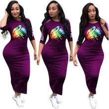 Load image into Gallery viewer, Multicolor Rainbow Lips Dress
