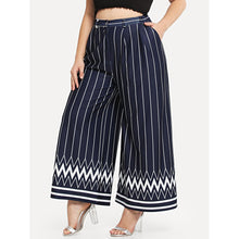 Load image into Gallery viewer, Striped & Chevron Print Wide Leg Pants - kats closet1