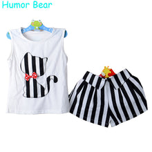 Load image into Gallery viewer, Humor Bear Girls Clothes Cartoon Cat T-Shirt + Short Children'S Suits Clothing Set Girls Set Girls Suit Children'S Clothing - kats closet1