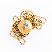 Load image into Gallery viewer, Gold Double Gem Dome Necklace - kats closet1