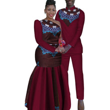 Load image into Gallery viewer, 2 Piece African Dashiki Print Couple Men's Shirt and Pants Women/s Party Wedding Dress