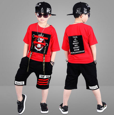 2 Piece Cotton T-shirt + Shorts Set