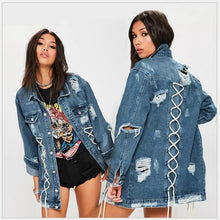 Load image into Gallery viewer, Boyfriend Style Long Sleeve Jean jacket - kats closet1