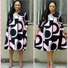 Load image into Gallery viewer, African Long Sleeve Plus Size Dress - kats closet1