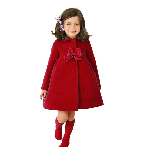 Toddler Kids Winter Cloak Thick Warm Overcoat